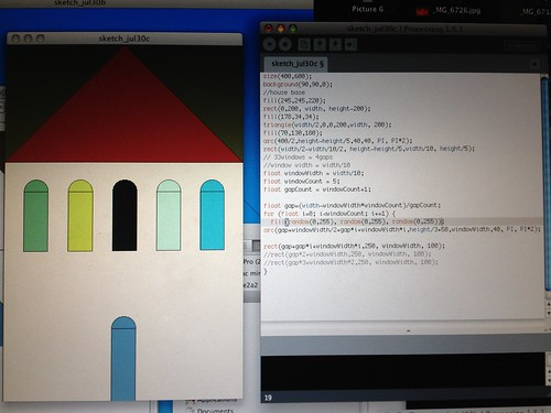First project in #processing boot camp with @iragreenberg at #AndersonRanch