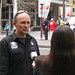 FBEU President Darin Sullivan with media at fire strike NSW 210612