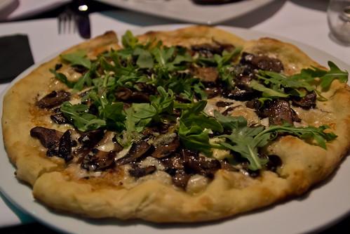 Mushroom Pizza at Emilia Romagna