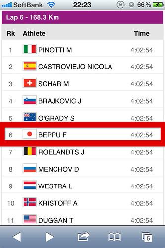オリンピック男子ロードレース6周目