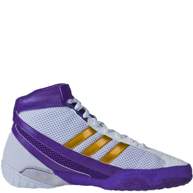 White And Purple Wrestling Shoes