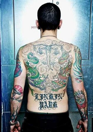chester bennington tattoos