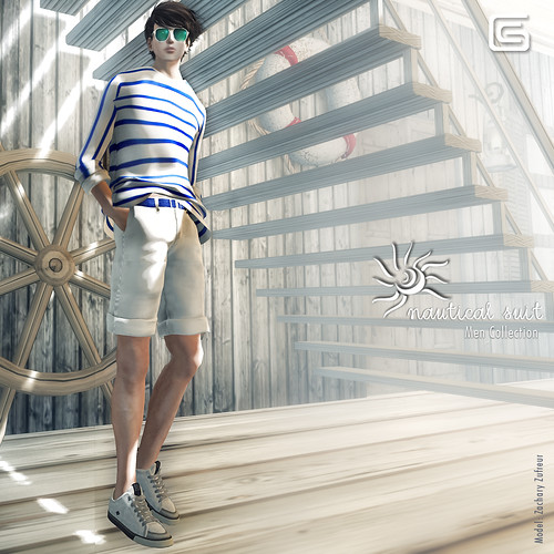 GizzA - Nautical Suit - Blue (Mesh)