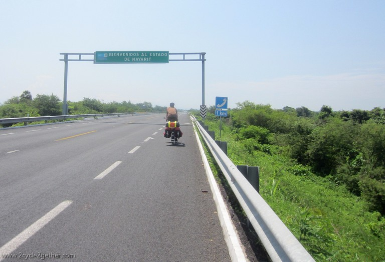 Crossing into Nayarit
