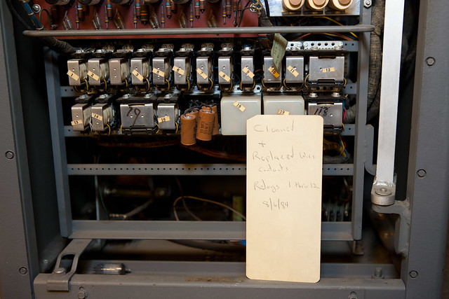 IBM 83 card sorter, service note