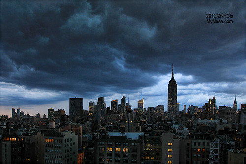 Nasty clouds: early evening storm rolling through NYC