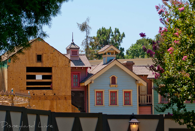 Princess Fantasy Faire Construction - Disneyland
