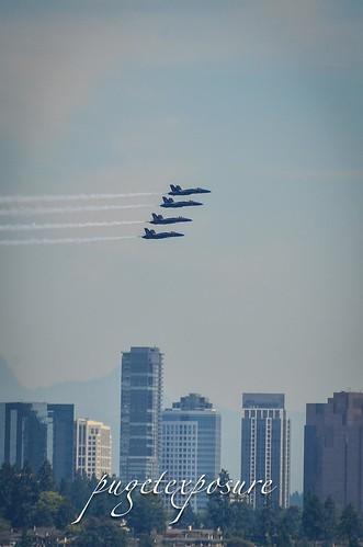 Blue Angels over Bellevue, Washington