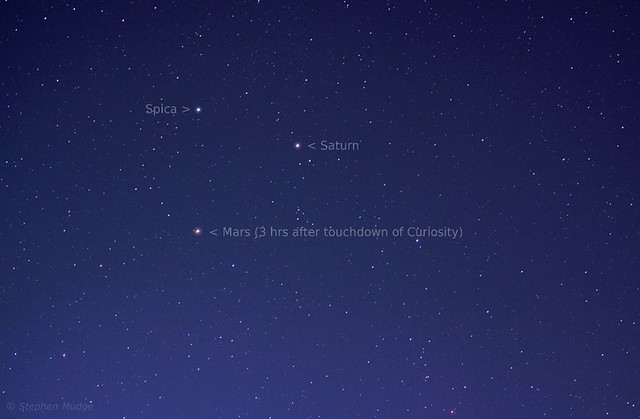 Mars Saturn Spica 6Aug12 small