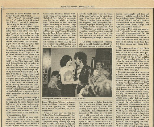 08/28/75 Rolling Stone Magazine (Dylan in NYC)(3/4)