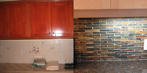 backsplash before and after