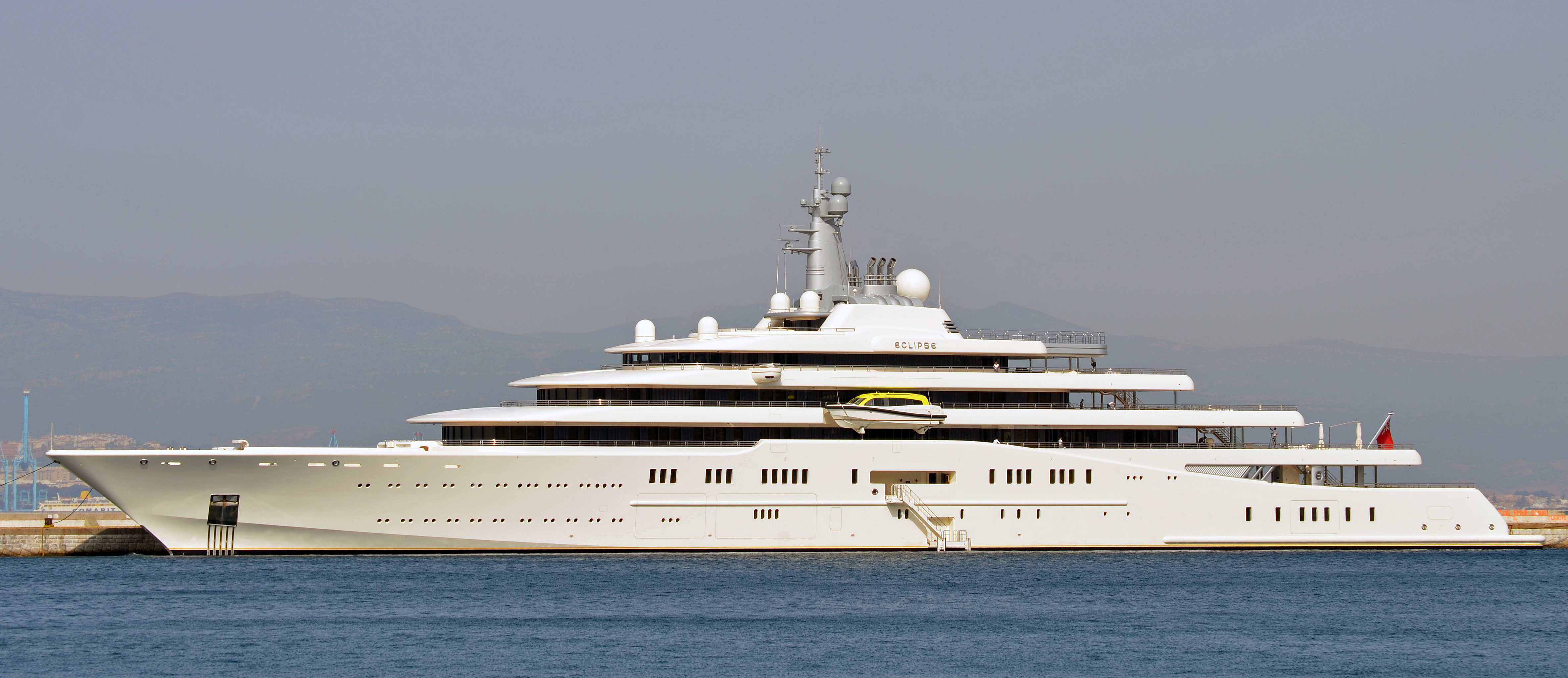 M  Y Eclipse Superyacht Berthed At The Detached Mole