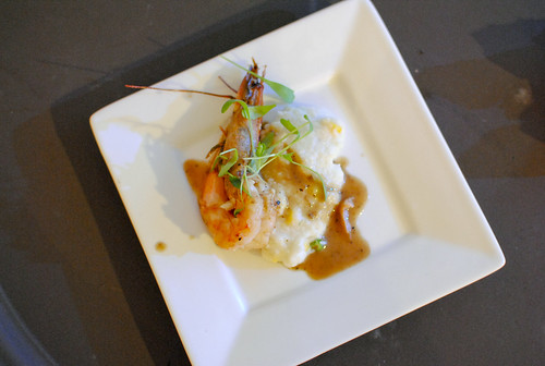 Rick Tramonto (R'evolution) BBQ shrimp and grits