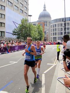 Kari Steinn Karlsson (Iceland) & Primoz Kobe (Slovenia) - London 2012 Men's Marathon