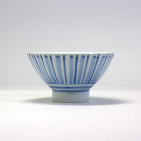 砥部焼 陽貴窯「茶碗/ストライプ」