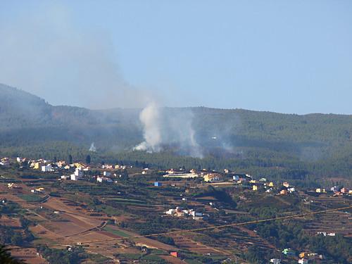 Fire in Los Realejos