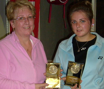 Bolton Badminton League Handicap Tournament 2012 Ladies Doubles Winners: Ann and Becki Hurst