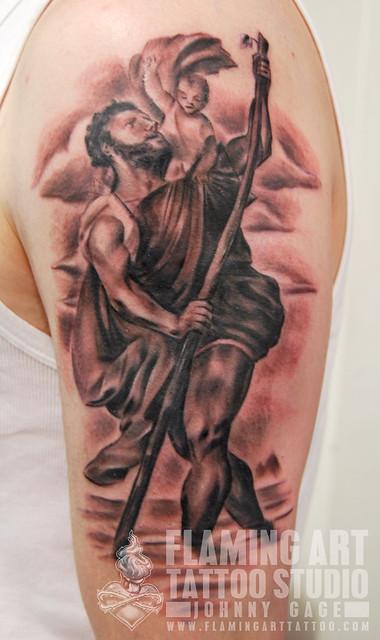 st christopher tattoo
