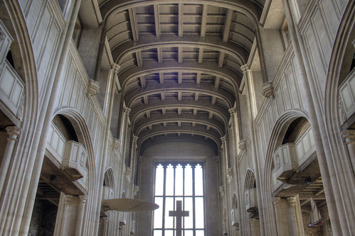 Concrete roof of All Hallows