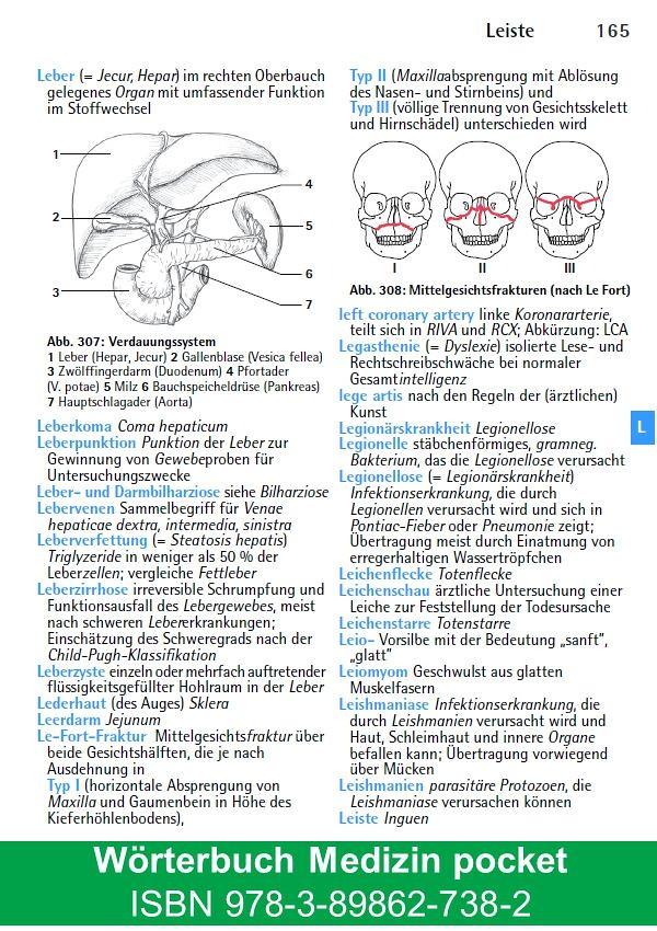 Wörterbuch Medizin pocket - Kleines Lexikon : Medizinische ...