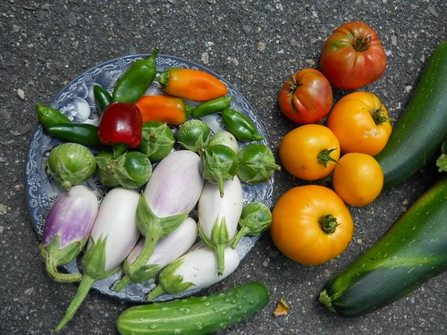 "2012 Garden, one day""s harvest by gorydetails"