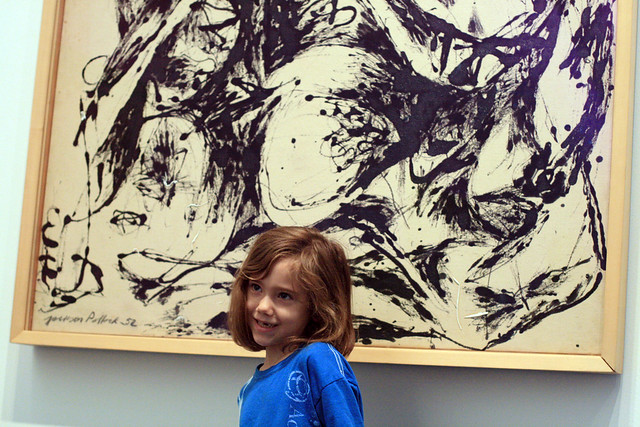 Eliza with the Jackson Pollock