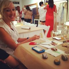 @gingerbreadblog making some kind of cool friendship bracelet wrapped hanger. @littlegraypixel