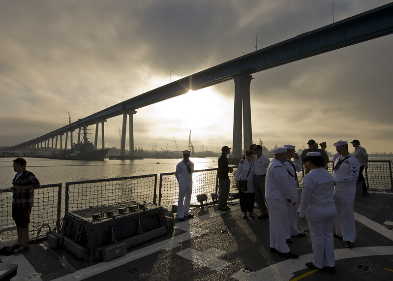 USS Wayne E Meyers Sailors participate in Navy Days L.A. 2012