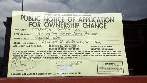 Public Notice of Application for Ownership Change