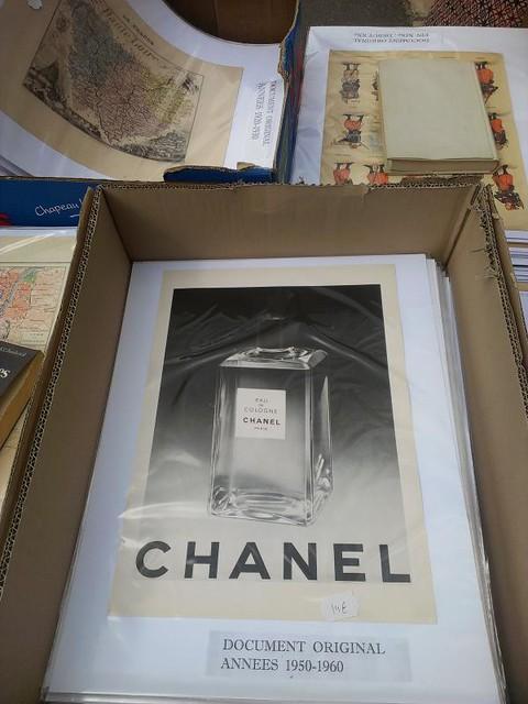 Chanel Eau de Cologne vintage poster