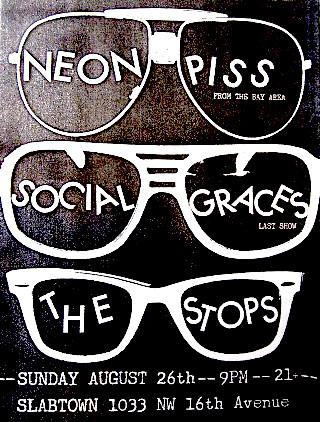 8/26/12 NeonPiss/SocialGraces/TheStops