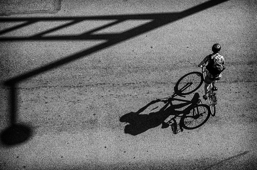Biker and Shadow