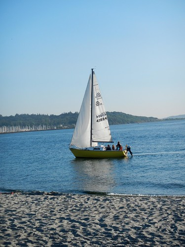 Golden Gardens Sailboat