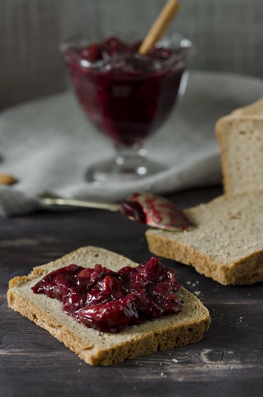 rye bread with plum jam