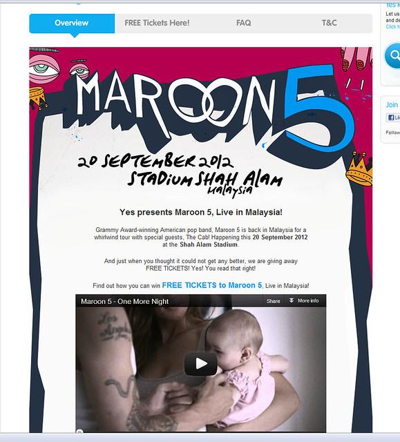 YES Maroon Five concert