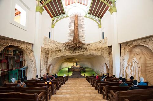 La iglesia de la Virgen de Guadalupe en Xcaret