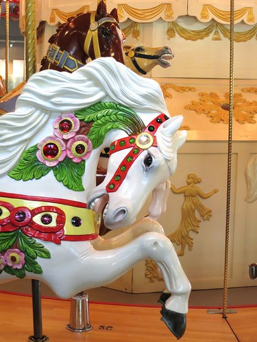 Handsome carousel horse