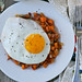 Sweet Potato & Bacon Hash with Fried Eggs