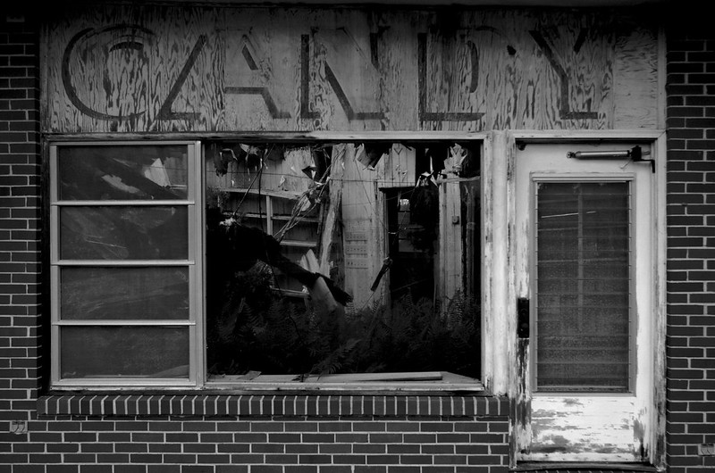 The Old Candy Shop in Black and White