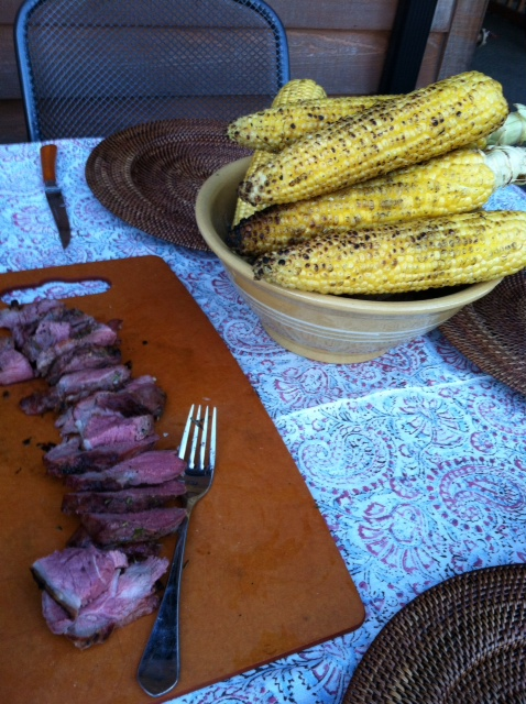 lamb and corn at susan and trace's