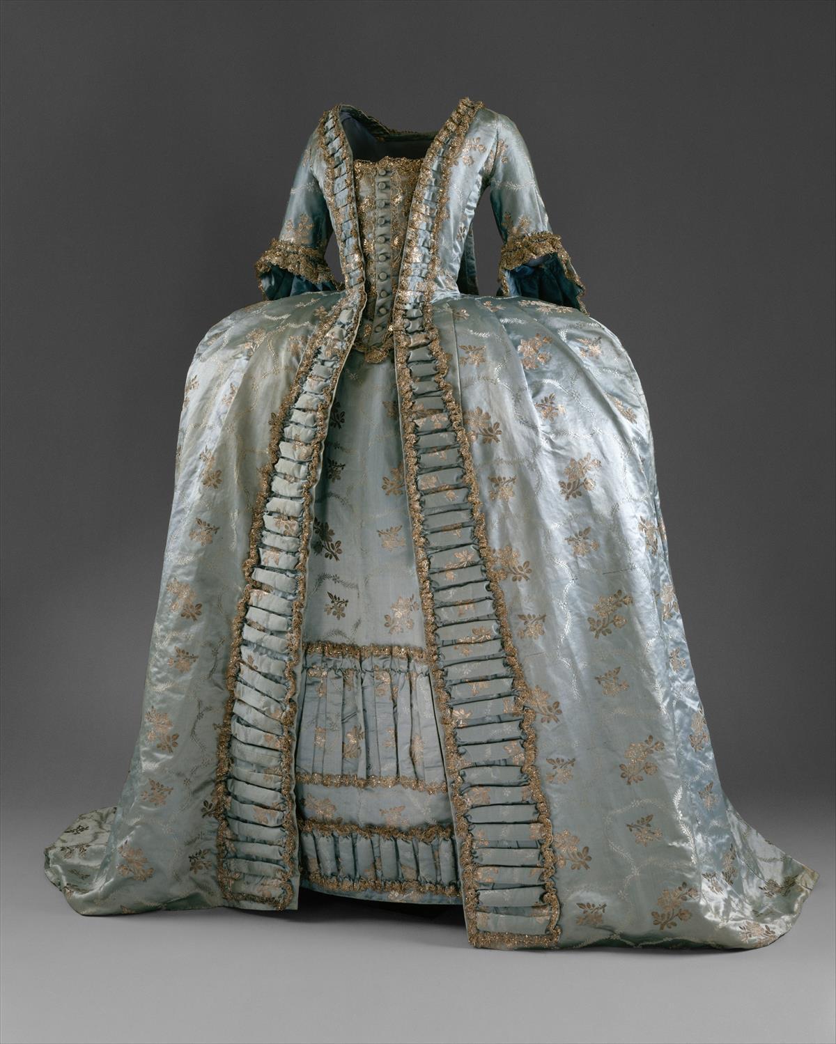 c. 1765. Robe à la Française. European. Silk. metmuseum