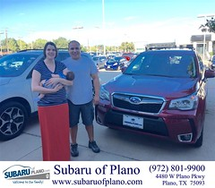 Happy Anniversary to Robyn & Jason on your #Subaru #Forester from Chris Culbertson at Subaru of Plano!