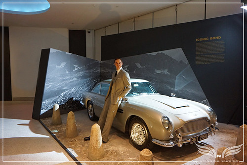 The Establishing Shot: Designing 007 50 Years Of Bond Style - James Bond (Sean Conney) Conduit Cut suit by Anthony Sinclair from Dr. No & 1964 Aston Martin DB5 from GoldenEye and Skyfall (Iconic Bond Area) by Craig Grobler