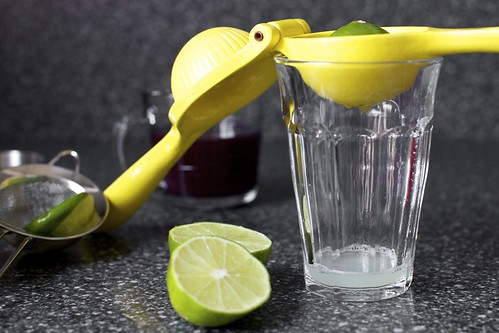 squeezing lime juice