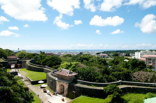 首里城 下之御庭からの眺め