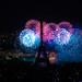 feu d'artifice du 14 juillet 2012 sur le sites de la Tour Eiffel et du Trocadéro à Paris vu de la Tour Montparnasse - Fireworks on Eiffel Tower ©y.caradec