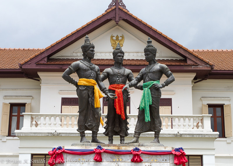 Monument to the three founders of Chiang Mai
