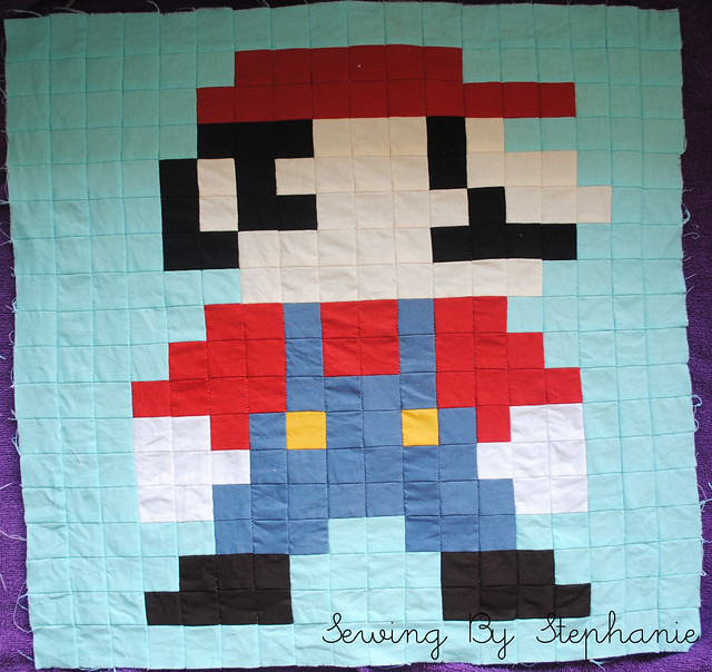 Super Mario Brothers Quilt Along Luigi Block Angela Pingel