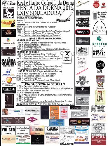Ribeira 2012 - Festa da Dorna - programa