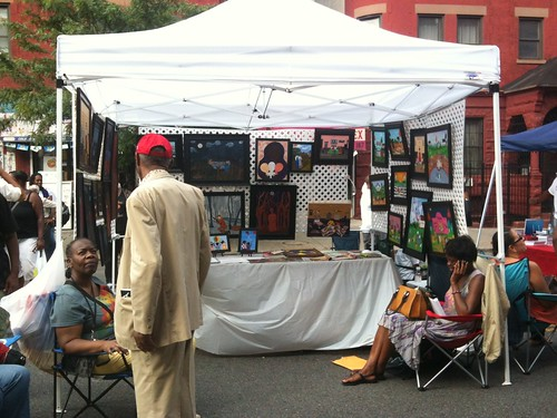 Art tent, 2012 Harlem Book Fair